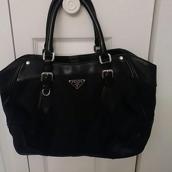 02cde24b78a1 PRICE DROP!!! Prada Microfiber & Leather Handbag. M_5b6cdaf56a0bb7697d07325b